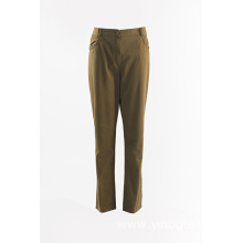 Ladies Dark Khaki straight trouser
